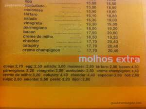 Cardápio - Chicohamburger