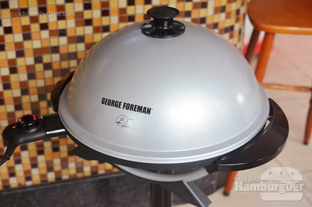 Grill tampado, derretendo o queijo - George Foreman Grill