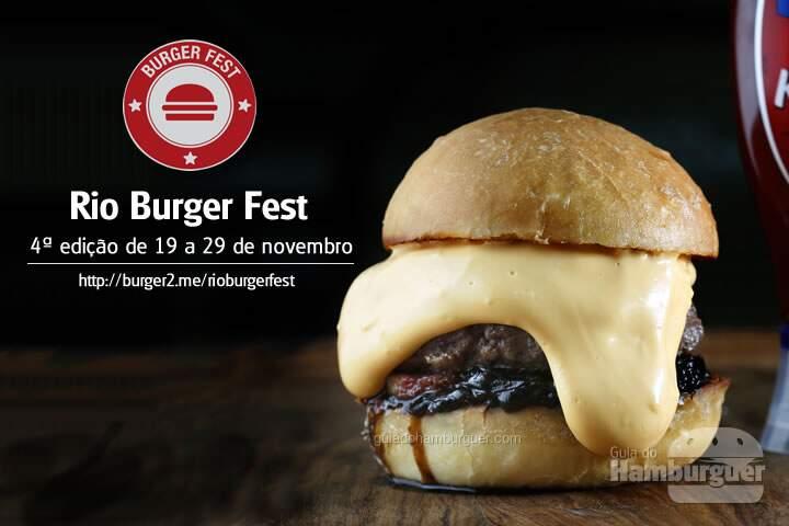 Rio Burger Fest 4ª edição de 19 a 29 de novembro