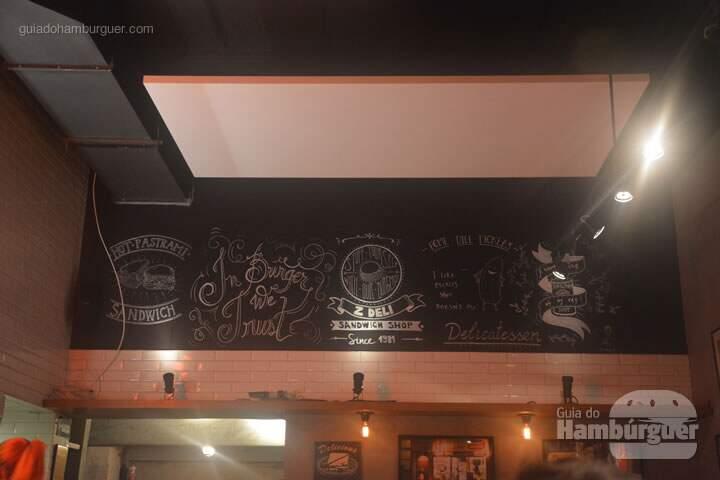 Detalhes da decoração - Cardápio - Z Deli Sandwich Shop