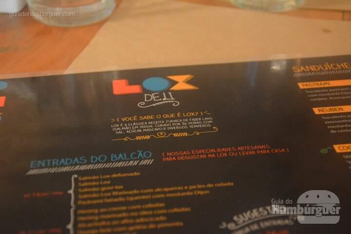 Cardápio - Lox Deli