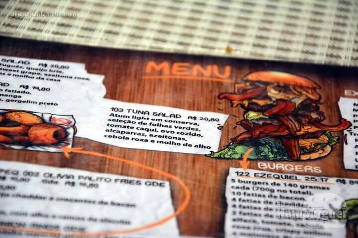 Cardápio - Big Kahuna Burger