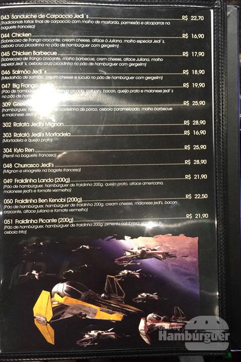 Cardápio - Jedi's Burger