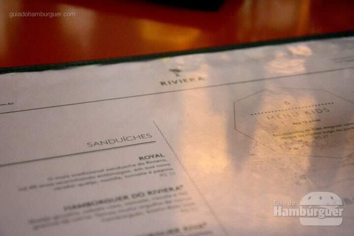 Cardápio - Riviera Bar