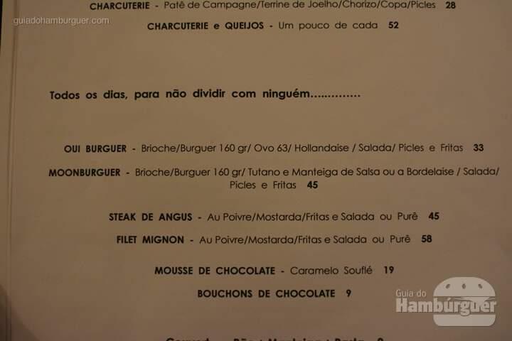 Cardápio - Oui Restaurante