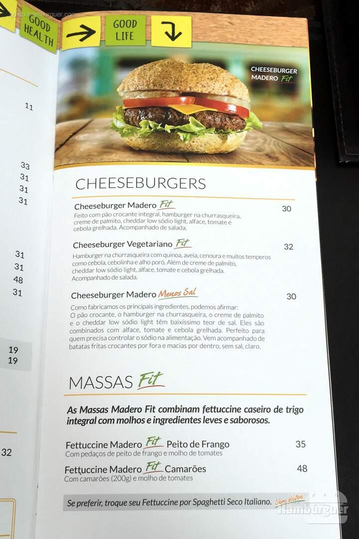 Cardápio - Madero Burger & Grill