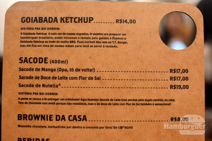 Cardápio - Reserva T.T. Burger
