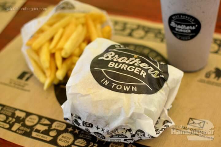 Hambúrguer com batata palito- Brother's Burger