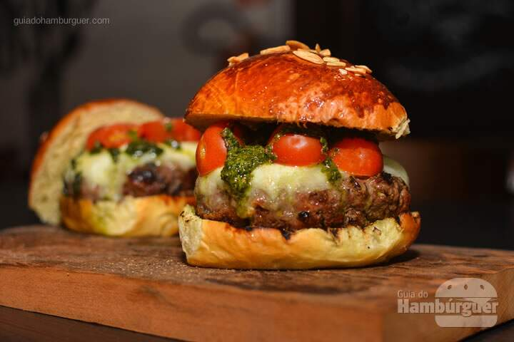 Receita do hambúrguer caprese - Burger Table