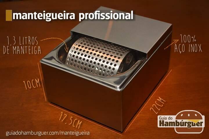 Manteigueira Profisional para pão de hambúrguer