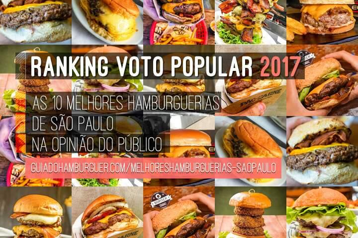 As 10 Melhores Hamburguerias de São Paulo eleitas pelo público - RANKING VOTO POPULAR 2017