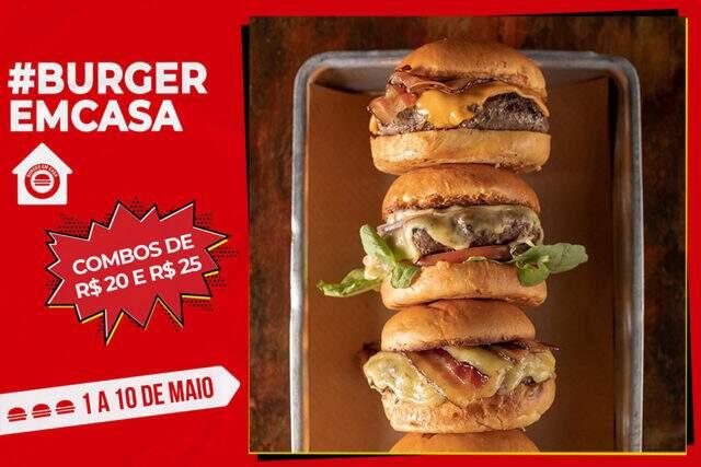Burger Em Casa — de 1 a 10 de maio de 2020 — festival de hambúrguer em São Paulo, Belo Borizonte, Curitiba, Florianópolis e Porto Alegre