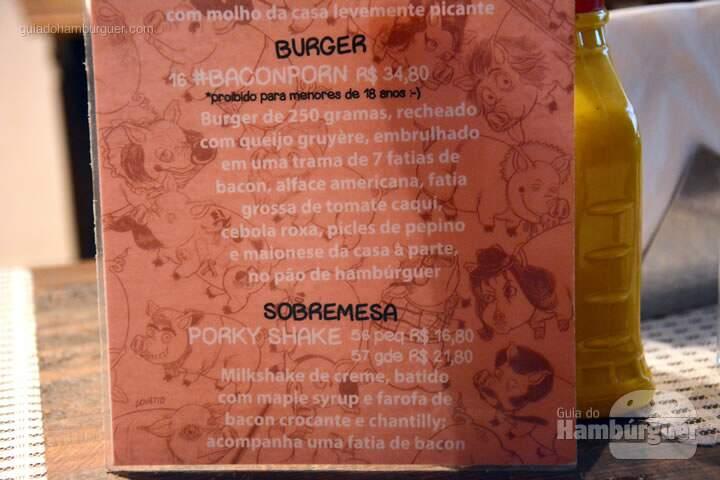 Cardápio baconday  - Big Kahuna Burger