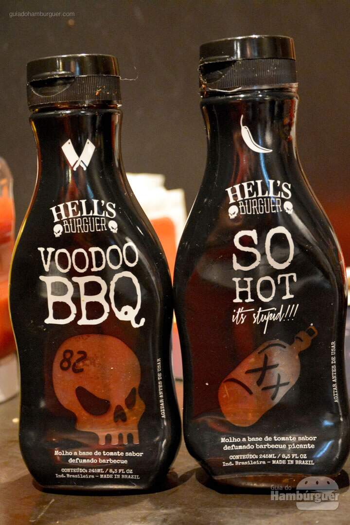 Molhos barbecue - Hell's Burguer
