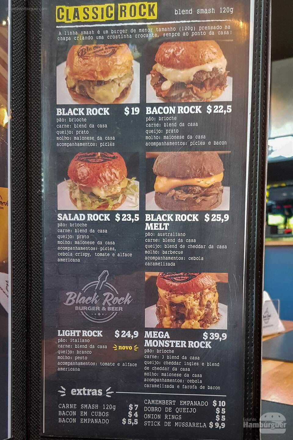 Cardápio - Black Rock Burger Beer